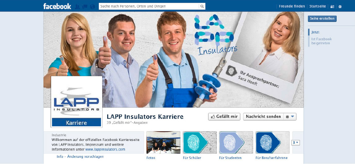 LAPP Insulators Facebook-Page von OPUS Marketing