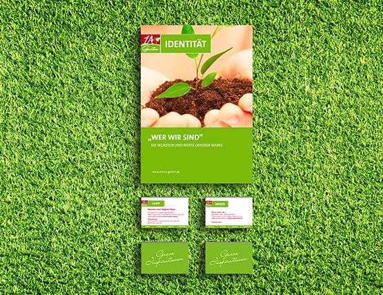 OPUS Marketing Geschäftsausstattung für 1A Garten in der Grünen Branche