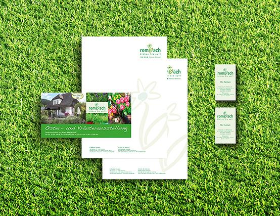 OPUS Marketing Geschäftsausstattung für die Grüne Branche am Beispiel Blumen Rombach