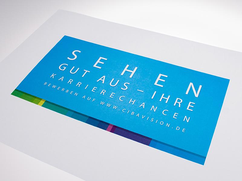 """OPUS-Marketing-News-CIBA-VISION-Gestaltung-Stellenanzeigen-Thema-""""Sehen"""""""
