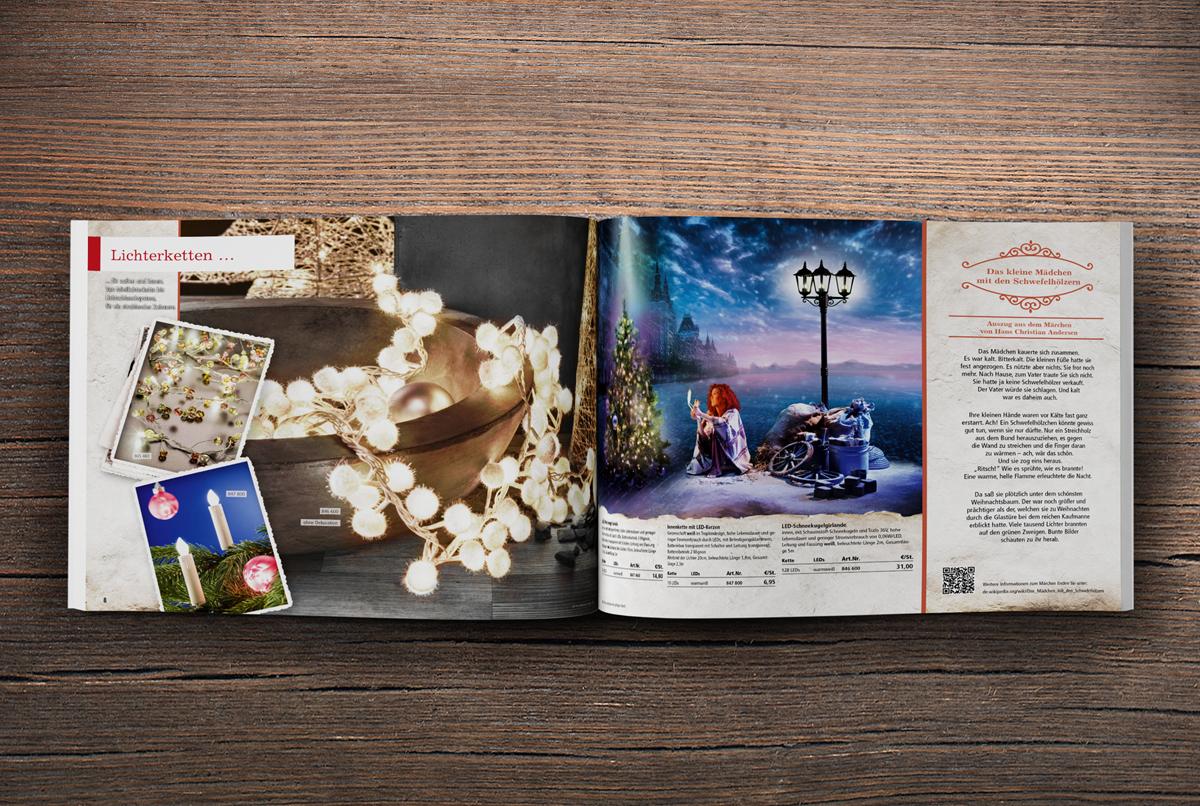 OPUS-Marketing-News-Eltric-Weihnachtskatalog-Fotoshooting-Das-kleine-Maedchen-mit-den-Schwefelhoelzern-Produktseite