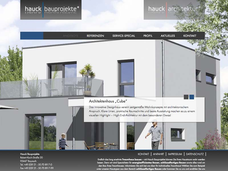 OPUS-Marketing-News-Hauck-Markenkonzeption-Website-Bauprojekte-Landingpage