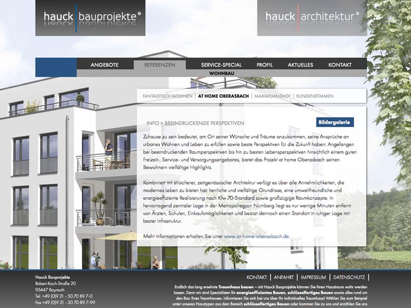 OPUS-Marketing-News-Hauck-Markenkonzeption-Website-Bauprojekte-Referenzen