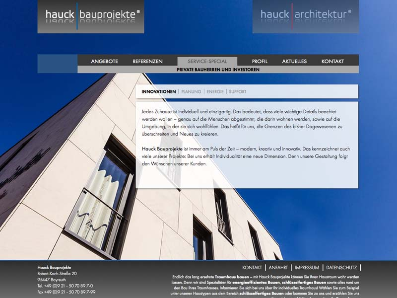 OPUS-Marketing-News-Hauck-Markenkonzeption-Website-Bauprojekte-Service-Special