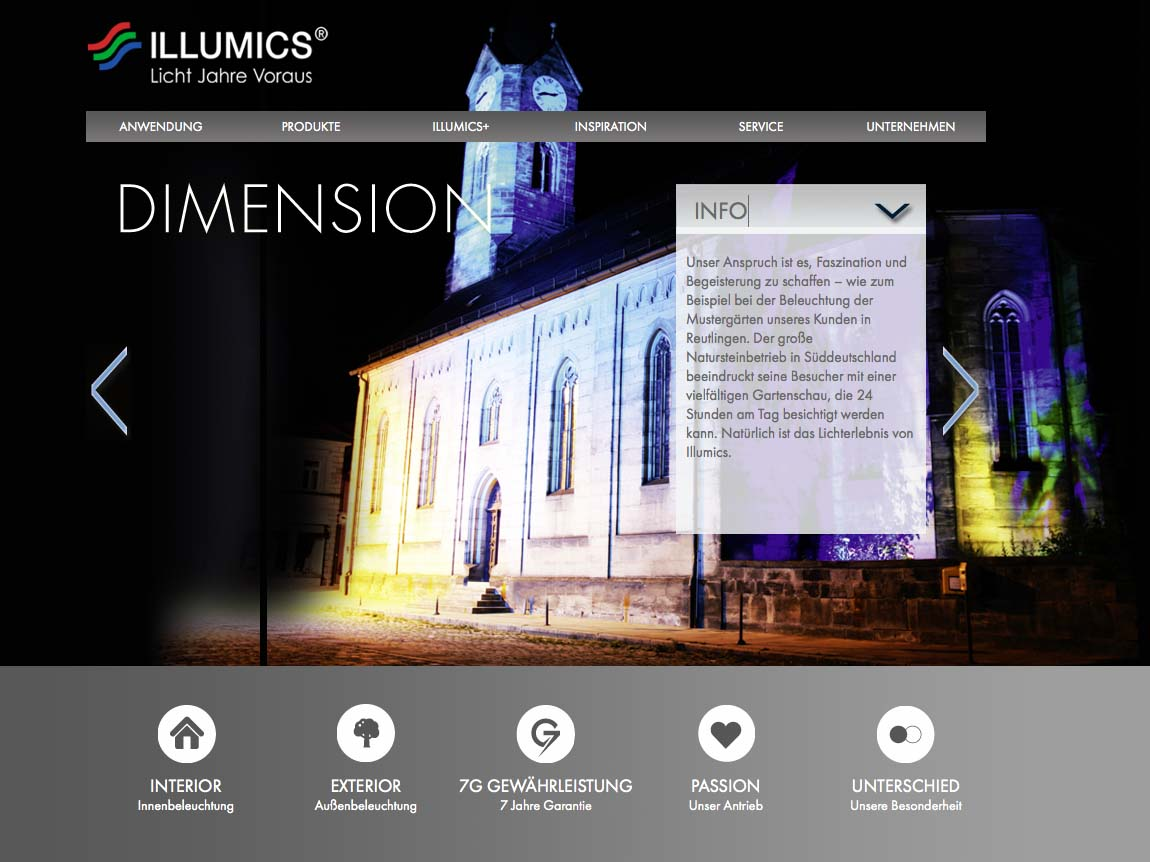 OPUS-Marketing-News-Illumics-Markenauftritt-Website-Dimension