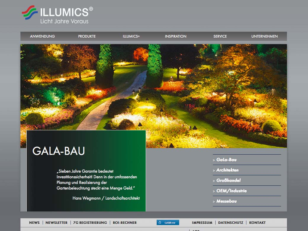 OPUS-Marketing-News-Illumics-Markenauftritt-Website-Gala-Bau