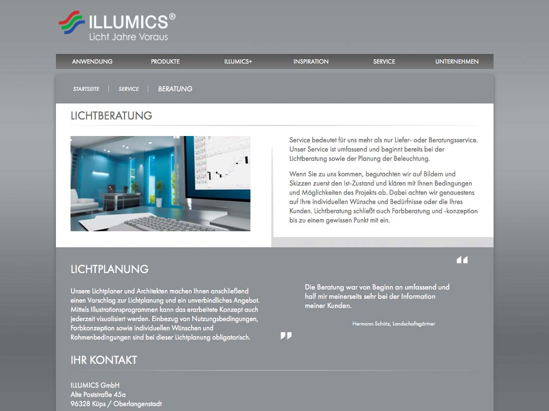 OPUS-Marketing-News-Illumics-Markenauftritt-Website-Lichtberatung