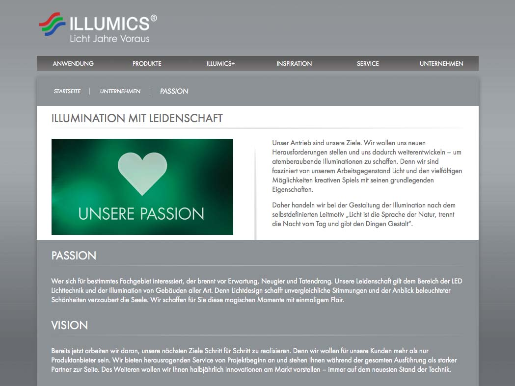 OPUS-Marketing-News-Illumics-Markenauftritt-Website-Passion