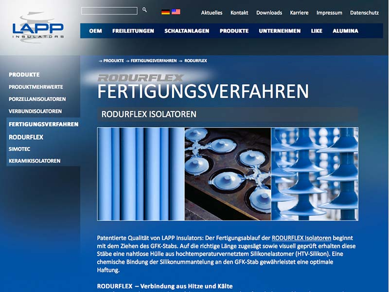 LAPP Insulators Website Fertigungsverfahren