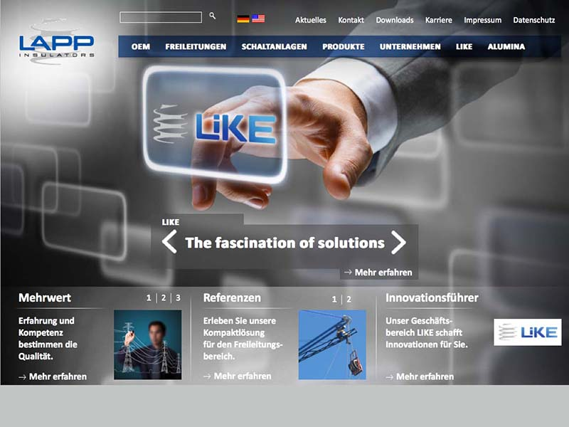 OPUS-Marketing-News-LAPP-Insulators-Website-Landingpage-Like