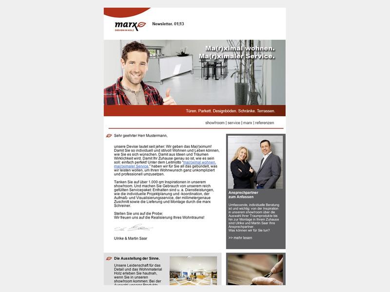 OPUS-Marketing-News-Marx-Holzhandel-Kampagne-Newsletter