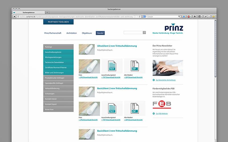 OPUS-Marketing-News-Prinz-Partner-Toolbox-Website-Trittschalldaemmung