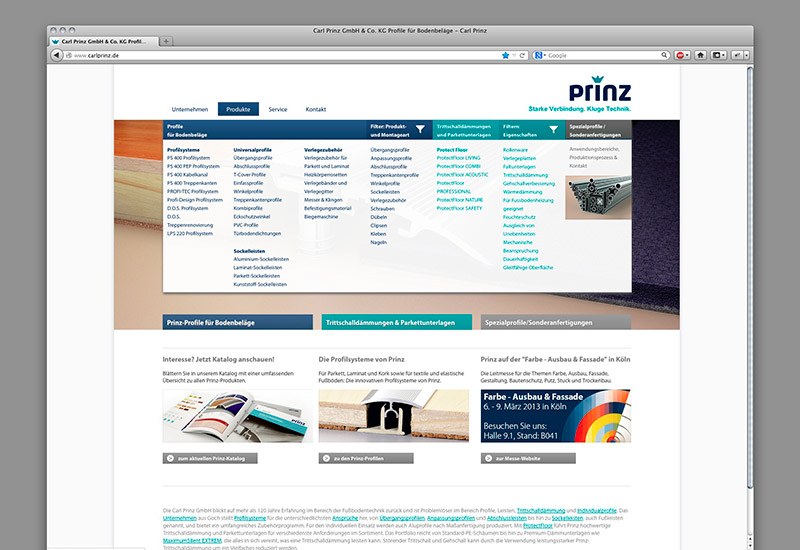OPUS-Marketing-News-Prinz-Website-Menue