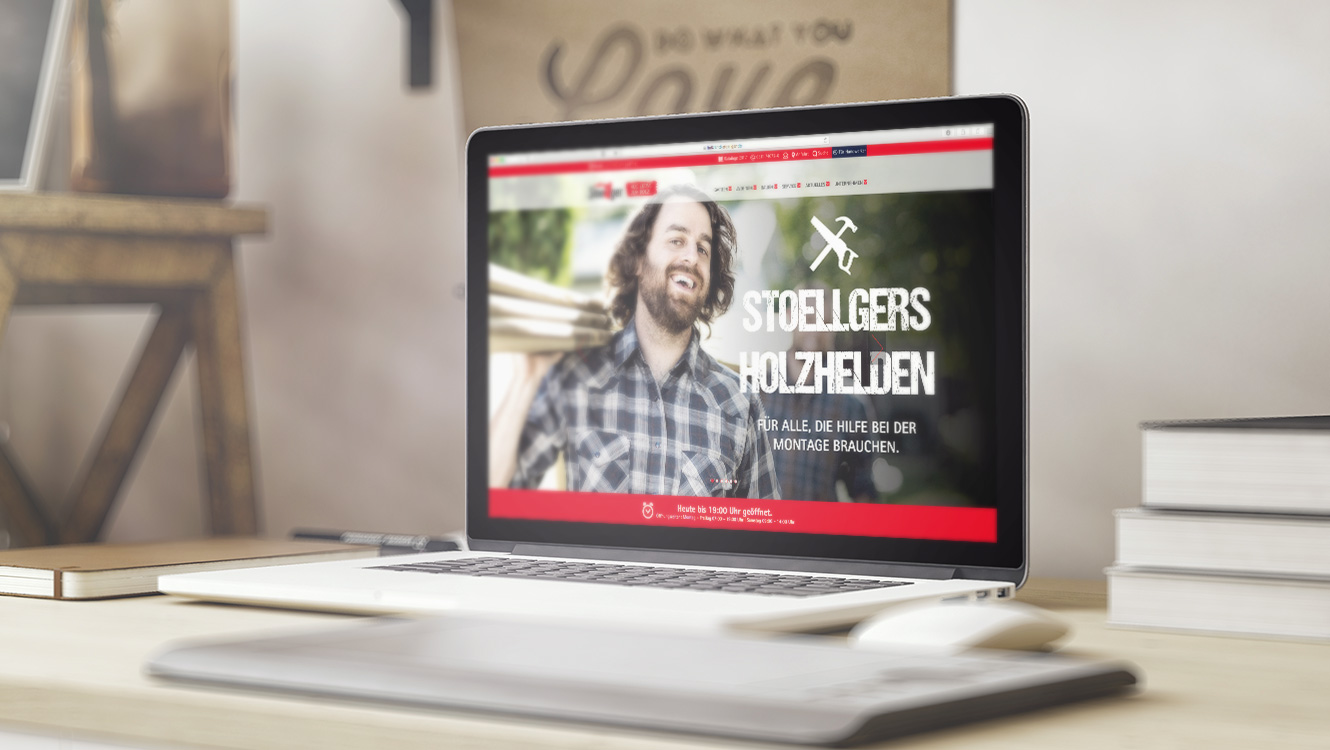 OPUS Marketing / Leistungen / Digital / Website / Holzland Stoellger
