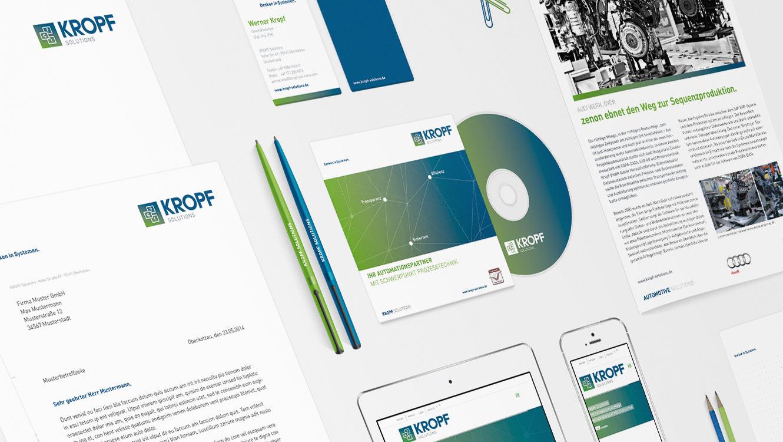 OPUS Marketing / Leistungen / Marke / Markenimplementierung / Kropf / Geschäftsausstattung