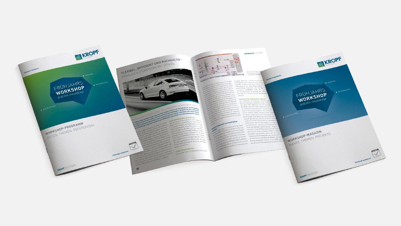OPUS Marketing / Leistungen / Marke / Markenimplementierung / Kropf / Broschüre