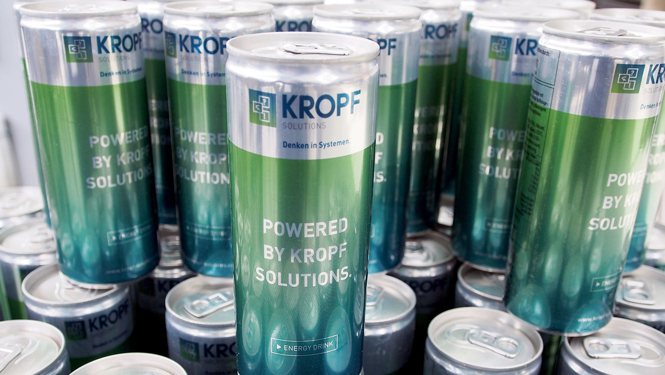OPUS Marketing / Leistungen / Marke / Markenimplementierung / Kropf / Energy Drink