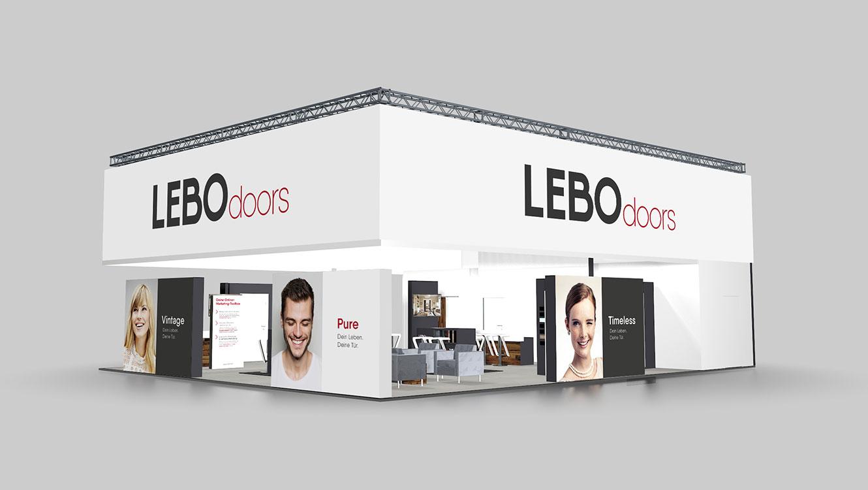 OPUS Marketing / Leistungen / LEBO Doors / Messekonzept Visualisierung