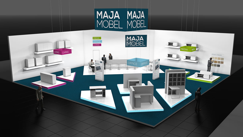 OPUS Marketing / Leistungen / MAJA Möbel / Messekonzept Visualisierung