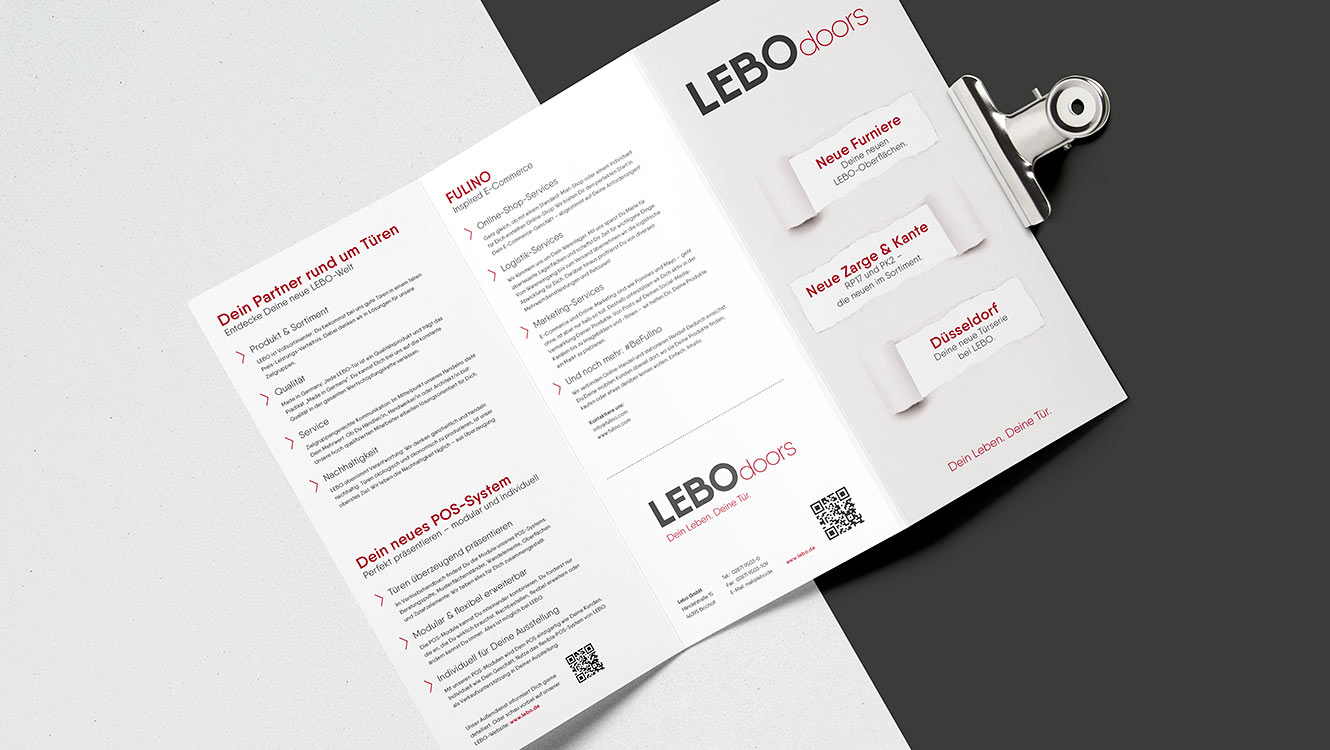 OPUS Marketing / Leistungen / Messekommunikation / LEBO Doors