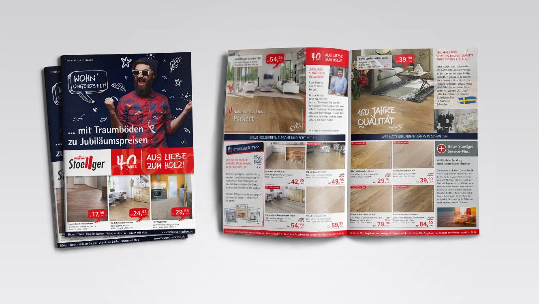 OPUS Marketing / Leistungen / Print / Beilage / Holzland Stoellger