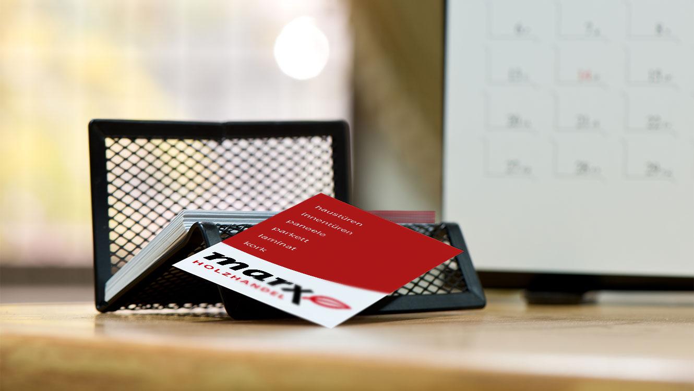 OPUS Marketing / Leistungen / Print / Geschaeftsausstattung / marx Holzhandel