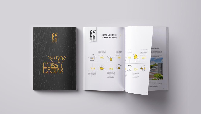 OPUS Marketing / Leistungen / Print / Unternehmensbroschüre / Holz Hauff
