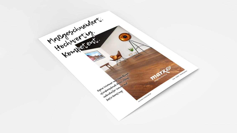 OPUS Marketing / Leistungen / Print / Unternehmensbroschüre / Marx Holzhandel