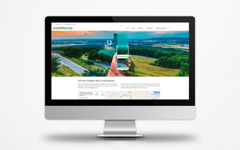 Corporate Website Projekt Bauart Anfahrt