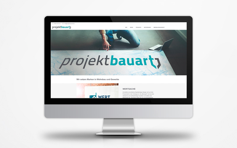 Corporate Website Projekt Bauart Marke