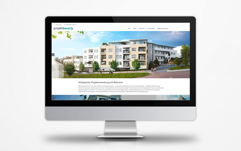 Corporate Website Projekt Bauart Startseite