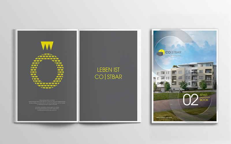 Immobilienmarketing für das Projekt Costbar – Stylebook