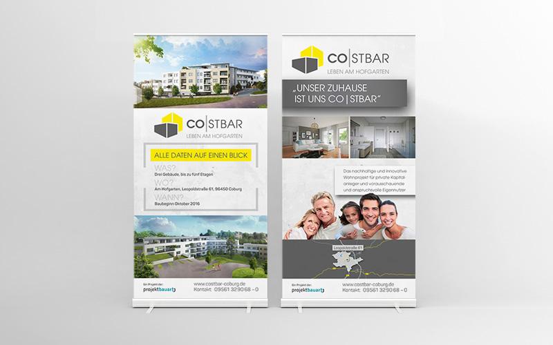 Immobilienmarketing für das Projekt Costbar – E´werbemittel