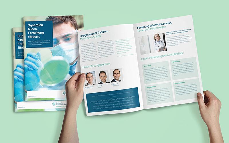 OPUS Marketing für Novartis Stiftung – Broschüre
