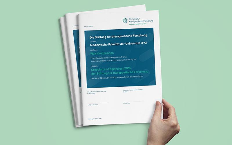 OPUS Marketing für Novartis Stiftung – Urkunden