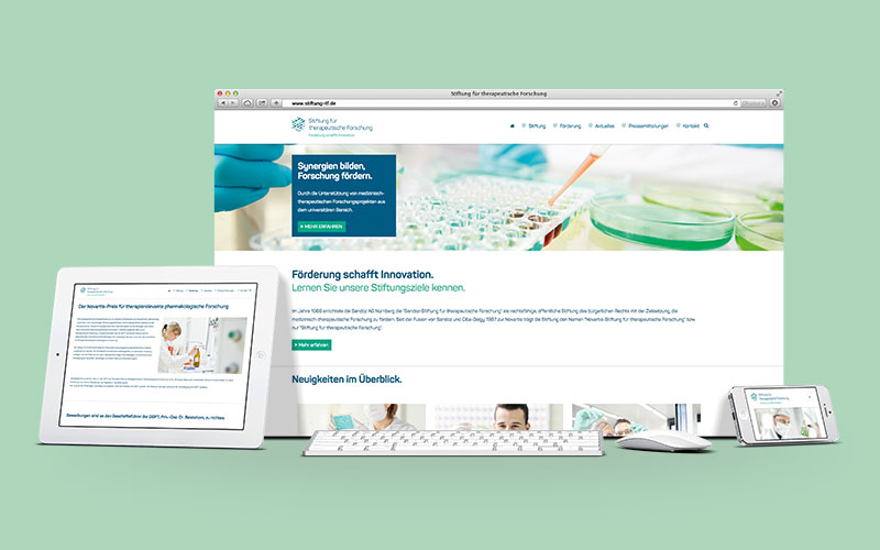 OPUS Marketing für Novartis Stiftung – Website