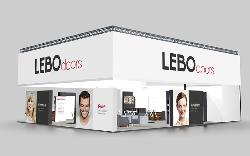 OPUS Marketing / BAU 2017 / Messestand LEBO Türen