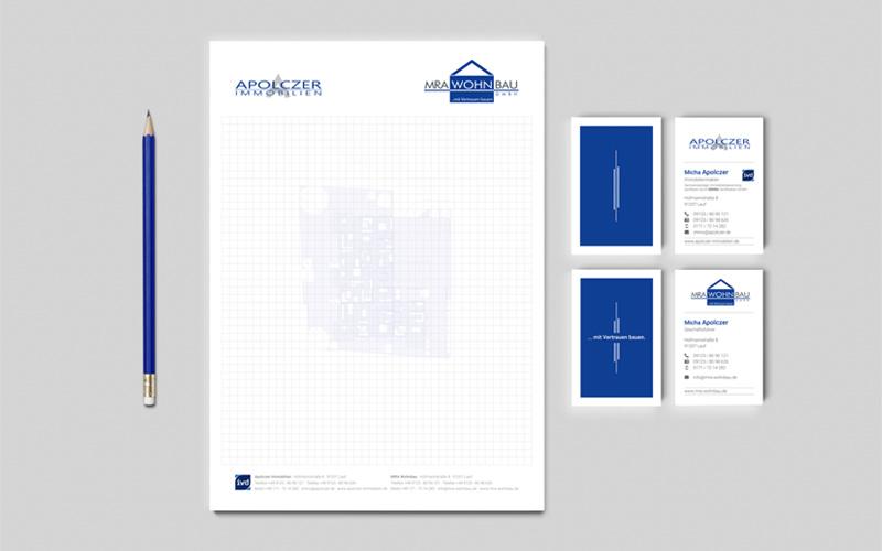 Geschäftsausstattung Apolczer Immobilien
