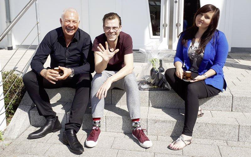 Matthias Prechtl mit Fritz Nützel und Olga Gassan