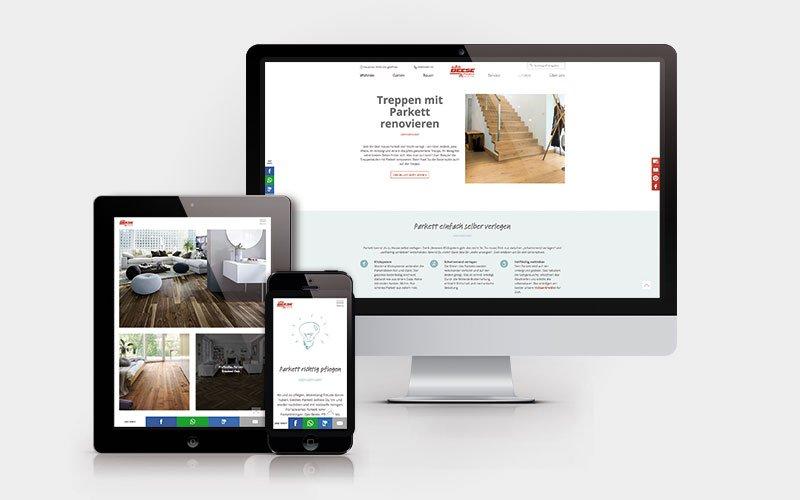 Website HolzLand Beese Produktseite Parkett