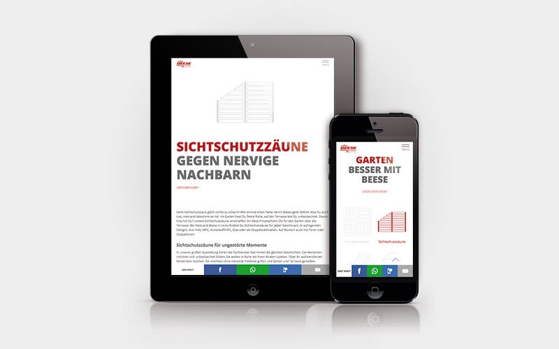 Website HolzLand Beese Icons