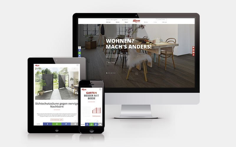 Website HolzLand Beese Startseite