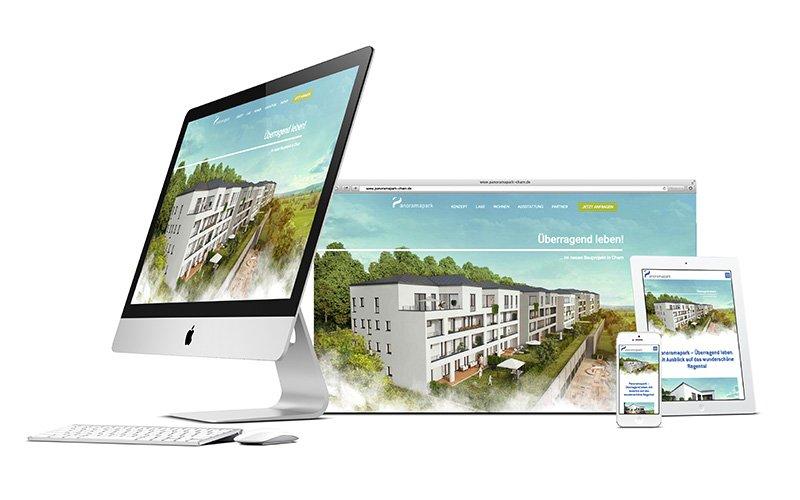 "Die responsive Website zum Immobilienprojekt ""Panoramapark"""