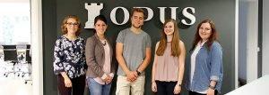 Drei unserer fünf neuen Kollegen sind in der Ausbildung