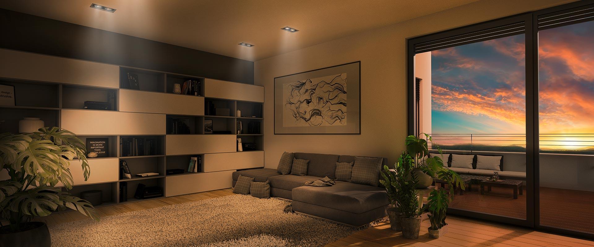 Panoramapark | Innenvisualisierung Wohnzimmer