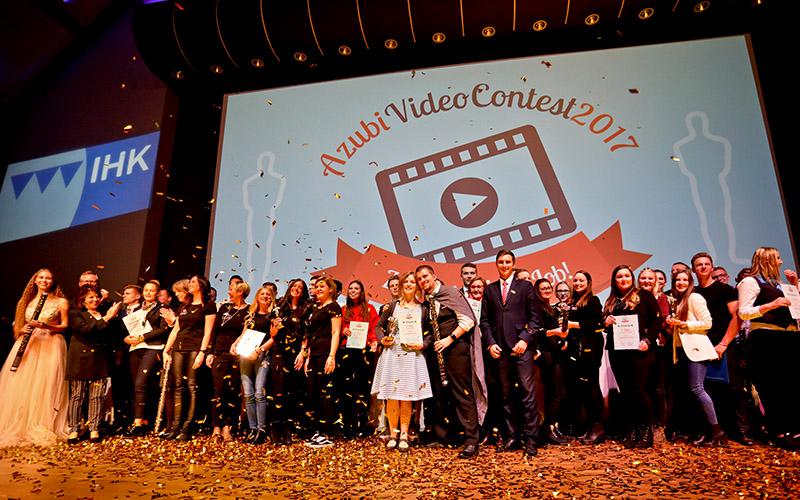 Alle Teilnehmer des IHK-Azubi-Film-Contest