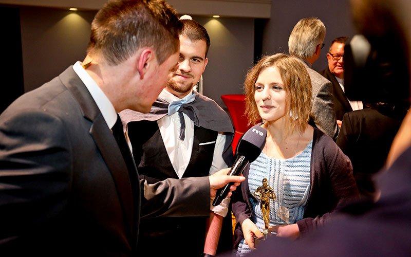 Die Gewinner des IHK-Azubi-Film-Contest, Tamara und René Eisenblätter