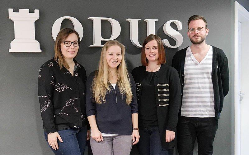 Vier neue Mitarbeiter bei OPUS Marketing
