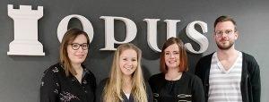 Vier Kollegen sind neu bei OPUS Marketing