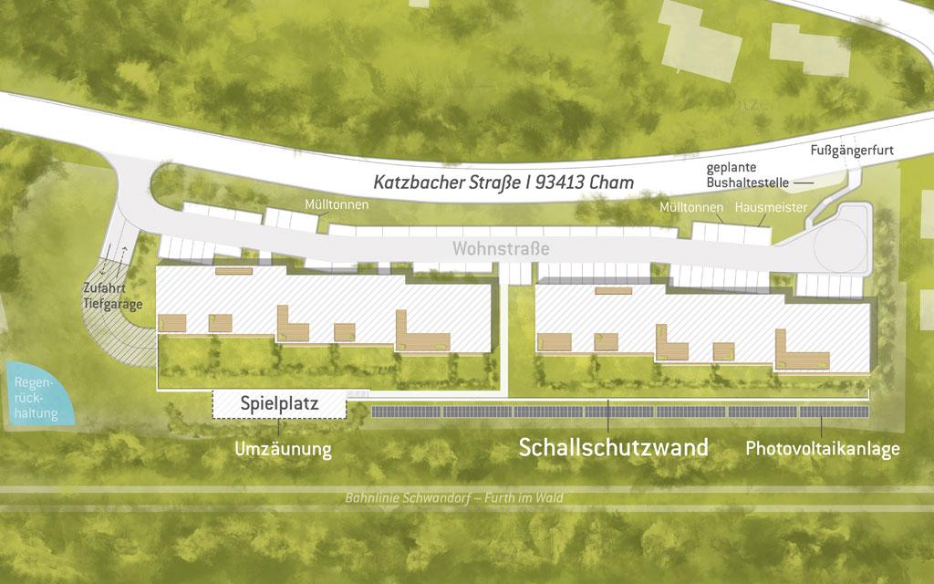 OPUS Marketing / Projekte / Panoramapark / Gegebäude Freiflächenplan